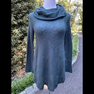 Wooden Ships Teal Mohair Wool Cowl Neck Sweater